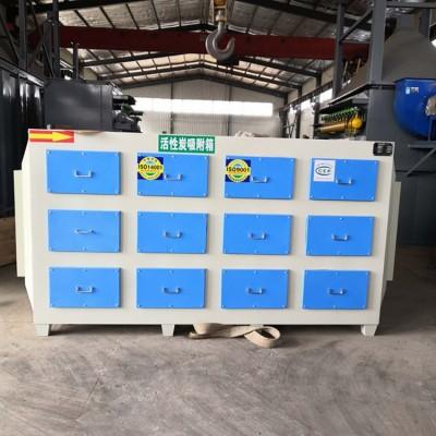 邢台铸件喷漆烤漆房4万风量蜂窝活性炭吸附箱发货实拍