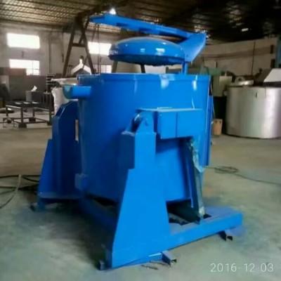 350Kg可傾式熔化爐 燃氣式翻轉熔鋁爐重力壓鑄熔煉設備
