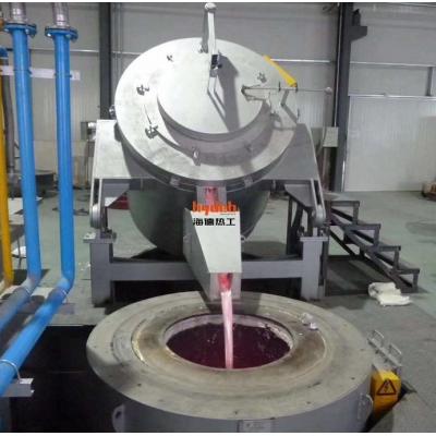 海德热工厂家直销倾转式电热熔化保温坩埚炉