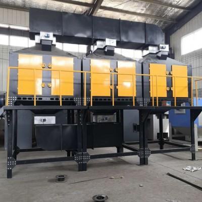 衡水景县橡胶厂RCO催化燃烧设备安装示意图环保整改吸附设备