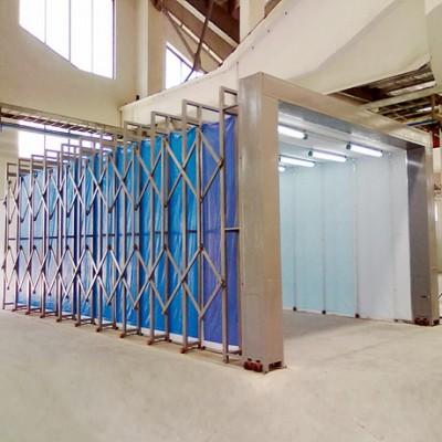 厂家定制全自动伸缩房喷漆房 自由控制安全耐用