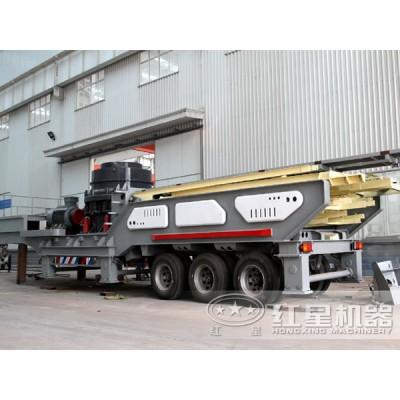 流动式磕石机 可移动的破碎制沙生产线FRR90