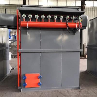 梅州8阀80袋单机布袋除尘器脉冲除尘设备喷吹系统调试