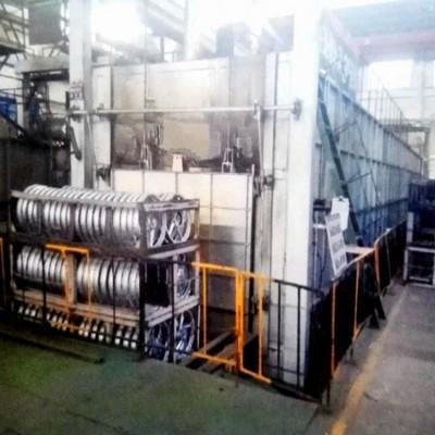 推杆式铝合金快速固熔炉轮毂T4热处理设备
