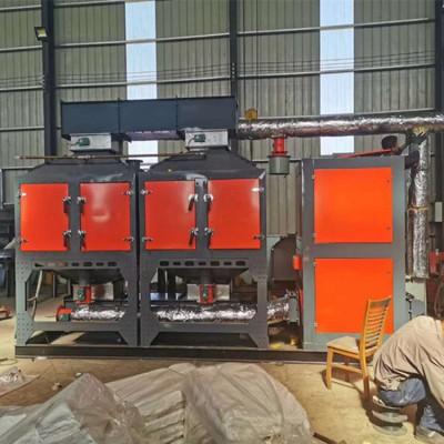 山东德州铸造厂活性炭吸附脱附催化燃烧设备1万风量安装现场