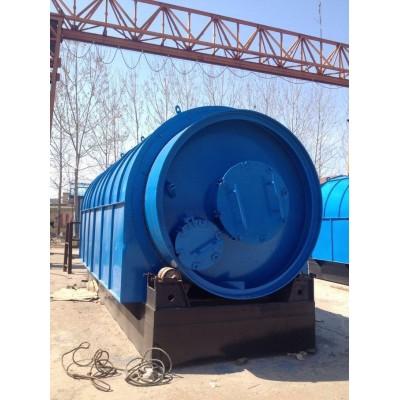 商丘四海日处理12吨废轮胎炼油裂解设备
