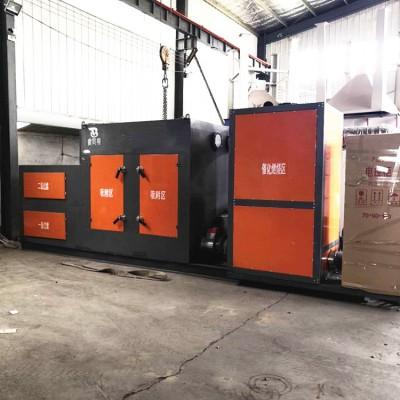 山东铸造造型厂小型1万风量rco催化燃烧分解净化设备