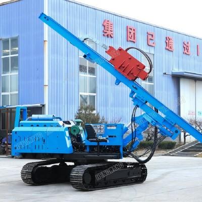 山東恒旺履帶螺旋打樁機 建筑工地光履帶式多功能打樁機