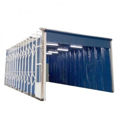 露天移动伸缩喷漆房 设备特点应用案例