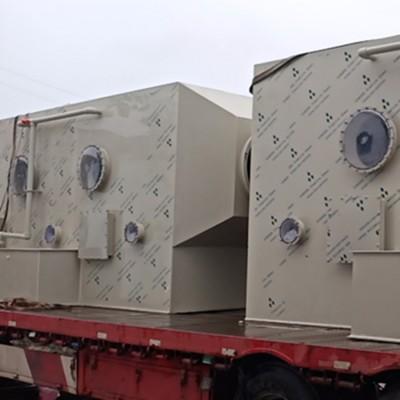 同帮2万风量方形PP喷淋塔卧式填料过滤净化塔尺寸参数