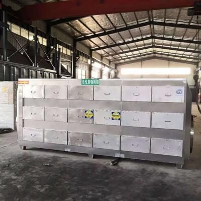 宁波冀同帮5万风量不锈钢活性炭吸附箱18个抽屉碳箱