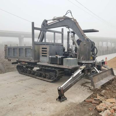 农用挖树坑运输车小型履带随车挖掘机 绿化园林用定做
