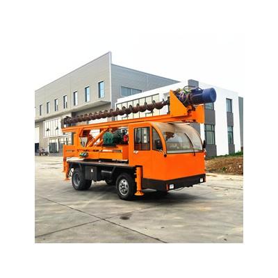 直销小型地基打桩机 轮式长螺旋钻孔机 10米建筑地基打桩机