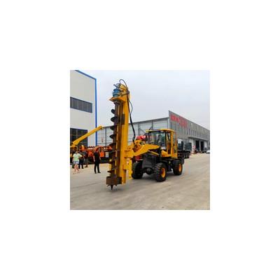 铲车可改装电线杆钻孔机 多功能装载钻孔机 电力工程地基打桩机